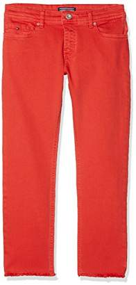 Tommy Hilfiger Girl's Lana Straight Cropped Icpst Jeans,(Manufacturer Size: 16)