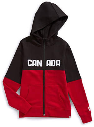 Canadian Olympic Team Collection Girls Colourblocked Fleece Hoodie