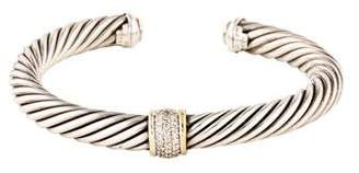David Yurman Diamond Station Cable Classics Bracelet
