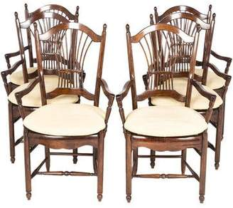 Set of 6 French Country-Style Armchairs