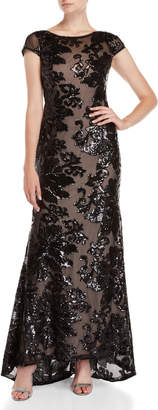 Calvin Klein Black Sequin Gown