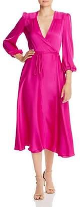 Milly Gina Silk-Blend Wrap Dress