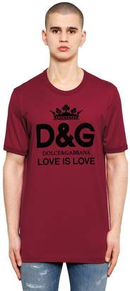 Dolce & Gabbana Love Is Love Logo Print Cotton T-Shirt