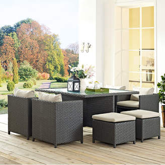 Modway Sojourn 9 Piece Dining Set with Cushion Cushion