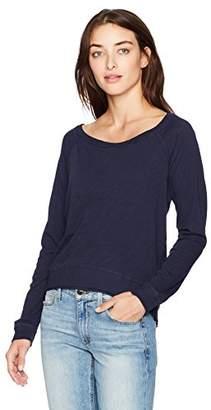 Three Dots Women's Slub Jersey Off Shoulder Sweatshirt