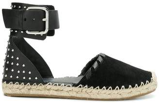 RED Valentino studded ankle strap espadrilles