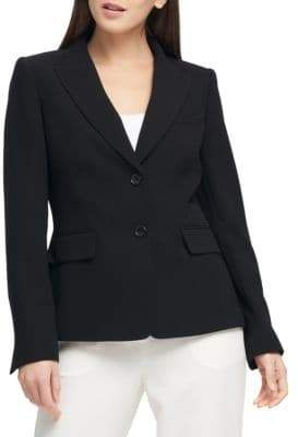 Donna Karan Two-Button Short Jacket