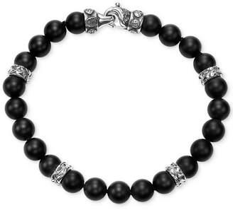 Scott Kay Men's Onyx Bracelet with Sterling Silver Accents