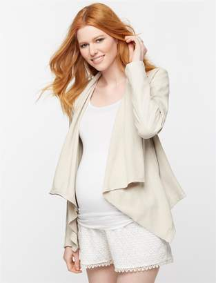 A Pea in the Pod Blank NYC Faux Leather Maternity Jacket