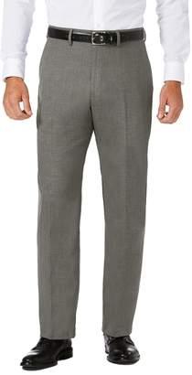 Haggar Men's J.M. Premium Classic-Fit Stretch Sharkskin Flat-Front Superflex Waist Dress Pants