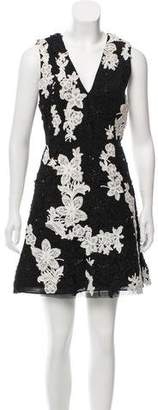 Alice + Olivia Embellished Mini Dress w/ Tags