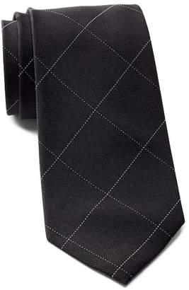 Calvin Klein Classic Windowpane Silk Tie
