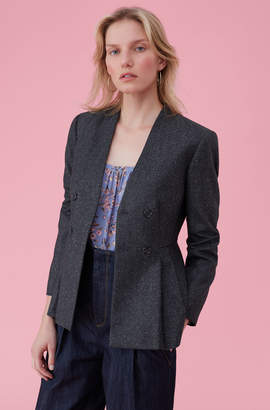 Rebecca Taylor Speckled Herringbone Jacket