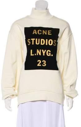 Acne Studios Long Sleeve Graphic Sweatshirt