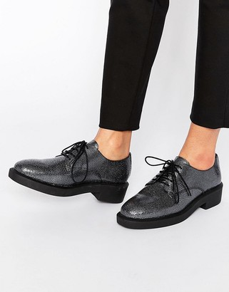 Bronx Lace Up Textured Flat Shoes $89 thestylecure.com