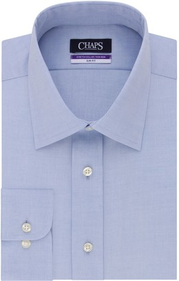 Chaps Men's Slim-Fit No-Iron Stretch-Collar Dress Shirt