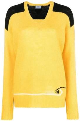 Prada colour blocked jumper