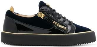 Giuseppe Zanotti Design Glynn velvet low sneakers