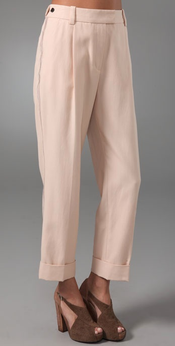 3.1 Phillip Lim Cuffed Tuxedo Trousers