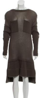 Reed Krakoff Cashmere Midi Dress Olive Cashmere Midi Dress