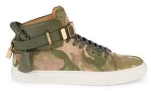 Buscemi Suede Camo High-Top Sneakers