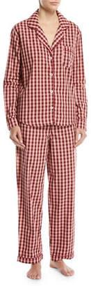 Desmond & Dempsey Gingham Long-Sleeve Pajama Set