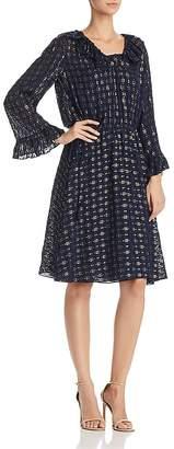 Tory Burch Jasmine Metallic Ruffle Dress