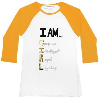 Milly Minis MillyMilly I Am Girl Baseball Tee