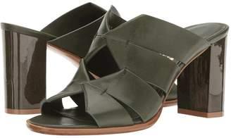 Salvatore Ferragamo Calfskin Slip On Mule Women's Sandals