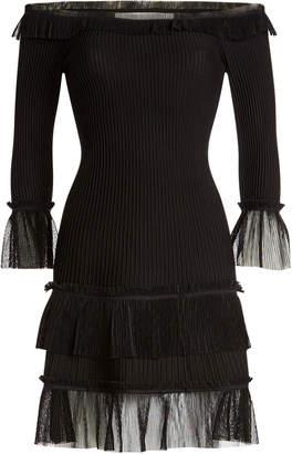 Jonathan Simkhai Ottoman Off-The-Shoulder Dress