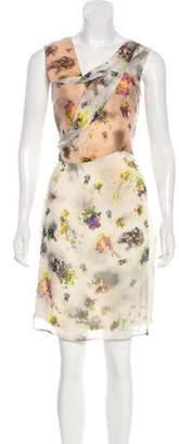 Hussein Chalayan Silk Knee-Length Dress