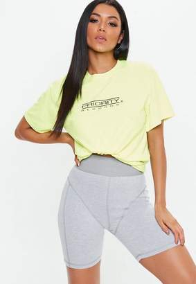 Missguided Grey Drain Pipe Seam Cycling Shorts