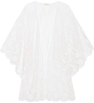Rime Arodaky Soaia Embroidered Tulle Kimono - White