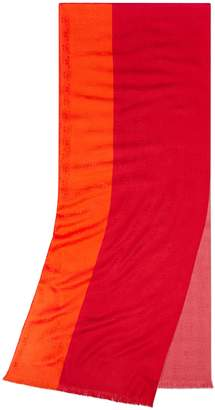 Tory Burch COLOR-BLOCK TRAVELER OBLONG SCARF