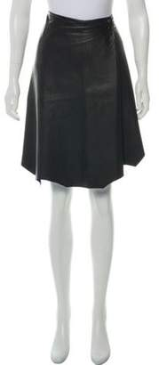 3.1 Phillip Lim Leather A-Line Skirt Black Leather A-Line Skirt
