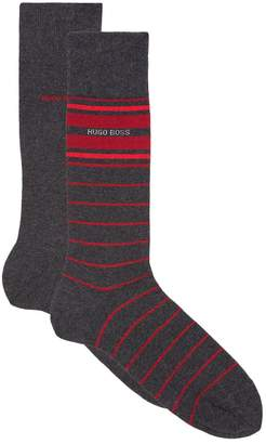 BOSS Striped Cotton Socks (Pack of 2)