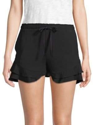 BB Dakota Aldeen Ruffle-Trimmed Shorts