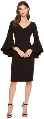 Badgley Mischka V-Neck Bell Sleeve Dress Women's Dress