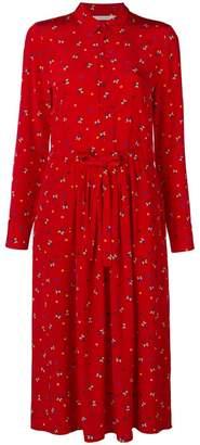 Parker Chinti & floral long-sleeve midi dress