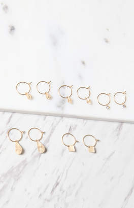 La Hearts Small Multi Hoop Earring Pack