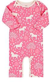Factory Winter Water Infants' Unicorn-Print Cotton Coverall-Pink