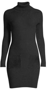 Milly Ribbed Wool-Blend Sweater Dress