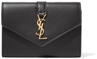 Saint Laurent - Envelope Leather Wallet - Black $425 thestylecure.com