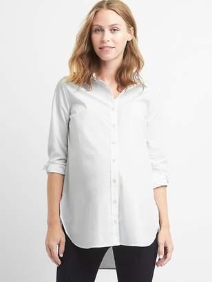 Gap Maternity tailored poplin tunic shirt