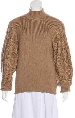 Caroline Constas Cable Knit Monk Collar Sweater w/ Tags