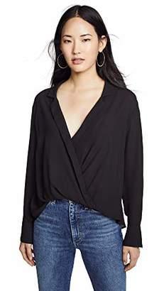 LIKELY Women's Mimi Long Sleeve Half Tuck Blouse