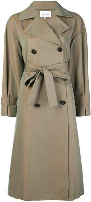 Enfold double-breasted trench coat