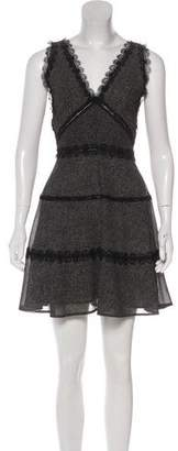 The Kooples Sleeveless Printed Mini Dress