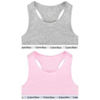 Calvin Klein Calvin KleinGirls Pink & Grey Bralette Set (2 Pack)