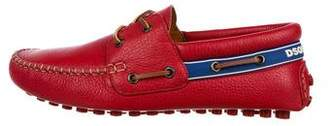 DSQUARED2 Leather Driving Loafers